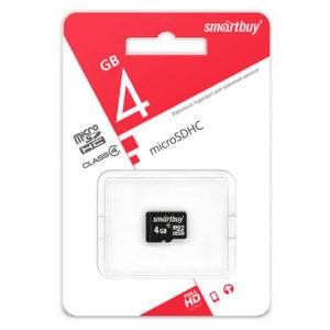 Карта памяти SmartBuy Micro SD 4Гб