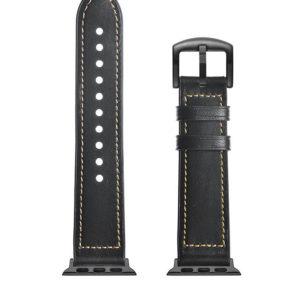 Ремешок кожаный Xiaomi Amazfit GTR 42mm/Bip/Haylou Ls01/Ls02