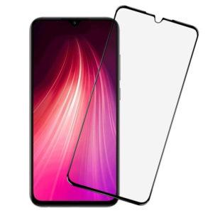 Защитное стекло 3D Xiaomi Redmi Note 8t силиконовый борт