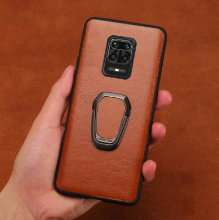 Чехол кожа Xiaomi Poco X3 с магнитом